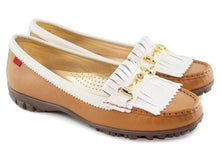 Load image into Gallery viewer, Lexington Golf - Tan Grainy & Cream Patent