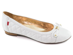 Pearl Street Flat - White Quilted Napa