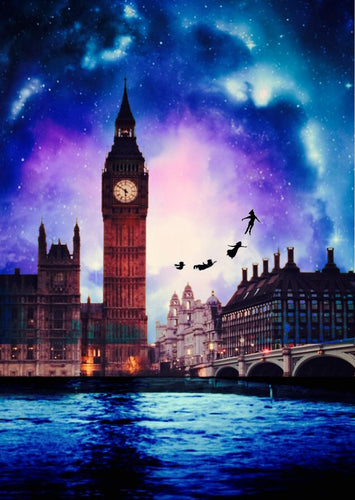 London Big Ben Fantasy - DIY Diamond Painting | Eckige Steine