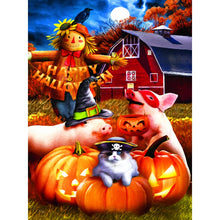 Lade das Bild in den Galerie-Viewer, Halloween Herbst Farm - DIY Diamond Painting | Eckige/Runde Steine