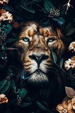 Laden Sie das Bild in den Galerie-Viewer, Flower Lion - DIY Diamond Painting | Eckige/Runde Steine