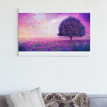 Lade das Bild in den Galerie-Viewer, Lila Landschaft Fantasy - DIY Diamond Painting | Eckige/ Runde Steine