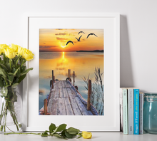 Lade das Bild in den Galerie-Viewer, Sunset am Meer - DIY Diamond Painting | Eckige/Runde Steine