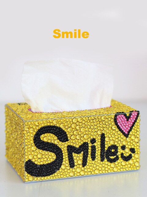 DIY Tissue Box - DIY Diamond Painting | Runde Steine