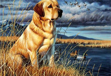 Lade das Bild in den Galerie-Viewer, Labrador am See - DIY Diamond Painting | Eckige/ Runde Steine