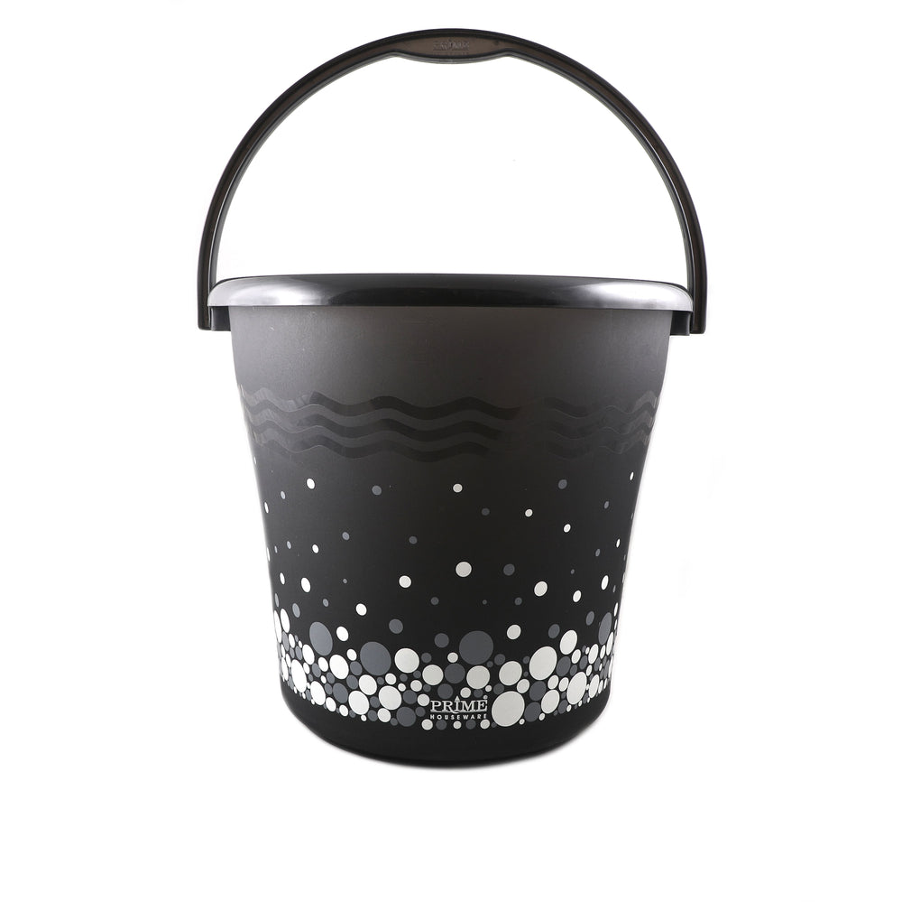 Bubble Print Frosty Bucket with Plastic Handle