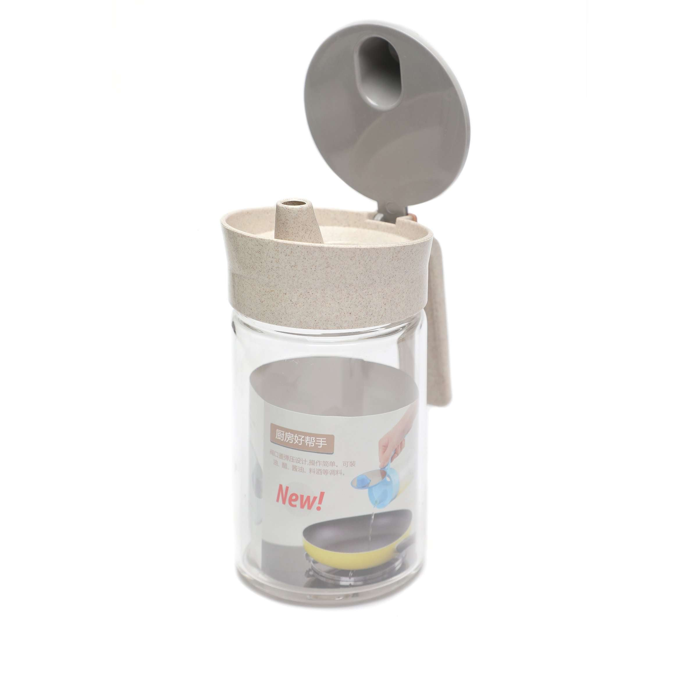 Oil Pourer and Dispenser with Handle