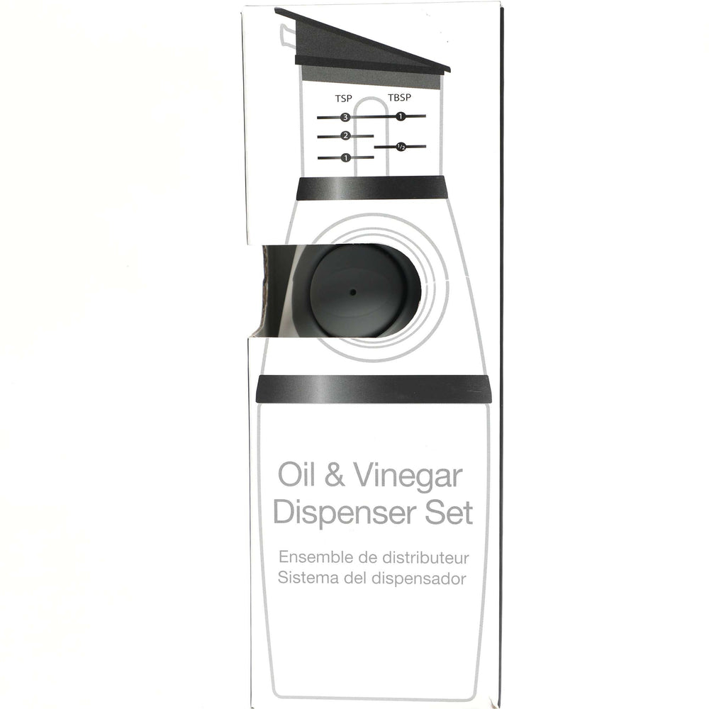 No Drip Press and Measure Oil and Vinegar Dispenser Bottle