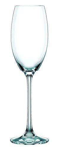 Nachtmann Vivendi Crystal Champagne Flute Glass Set, 272ml/7cm, Set of 4, Clear