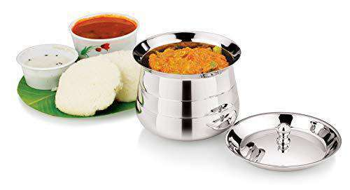 Stainless Steel Curry and Rice Pot (Durable and Silver Classic Finish)