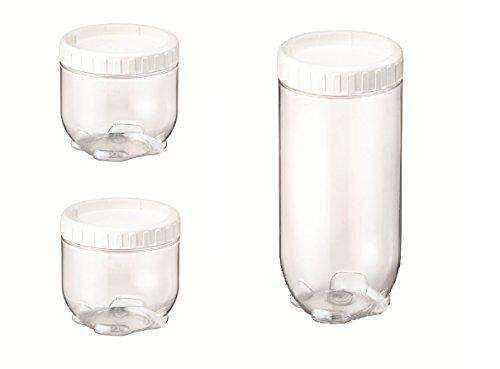 Lock&Lock Interlock Wide Base Container Set, 3-Pieces | (620ml x 2 + 1.3 Litres x 1) - Transparent