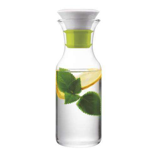 Borosil Viola Decanter with Lid, 900ml, Transparent
