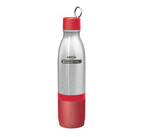 Milton CHAI PANI Thermosteel Vaccum Insulated Hot & Cold Water Bottle, TOP Bottle 500 ml, Bottom Bottle 300 ml