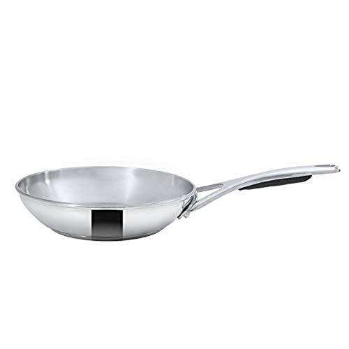 Meyer Select Stainless Steel Frypan | 24 cm, Induction and Gas Compatible (Silver)
