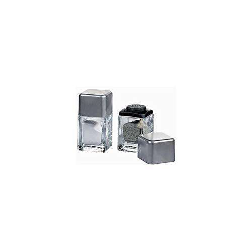 A Desire Enterprise Pasabahce Cubic Salt and Pepper Shakers Set for Dining Table (Set of 2)