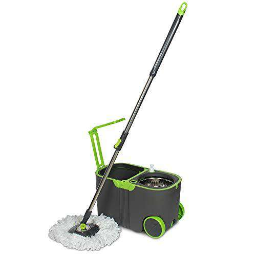 Wotra Standard Prime Spin Magic Wheel Bucket mop Wheels for 360 Degree Mopping Floor Cleaning with 2 Refill S340