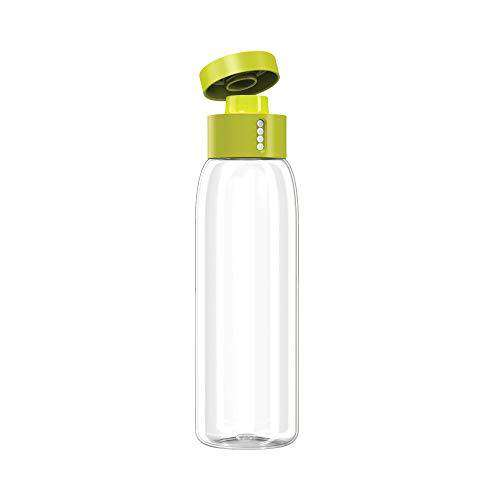 Joseph Joseph Dot Hydration water Bottle counts Water Intake Tracks Consumption On Lid Twist Top 20-Ounce, Gray