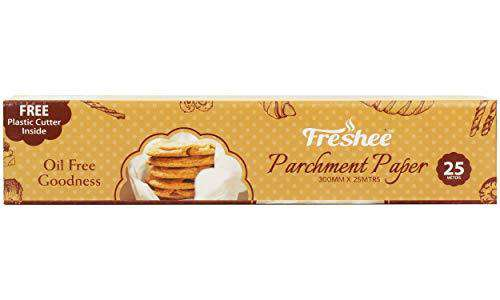 Freshee 25 Meter Parchment Paper Roll, Baking Paper, Food Wrap, Butter Paper, Baking Wrap, Microwave Safe Cooking Paper