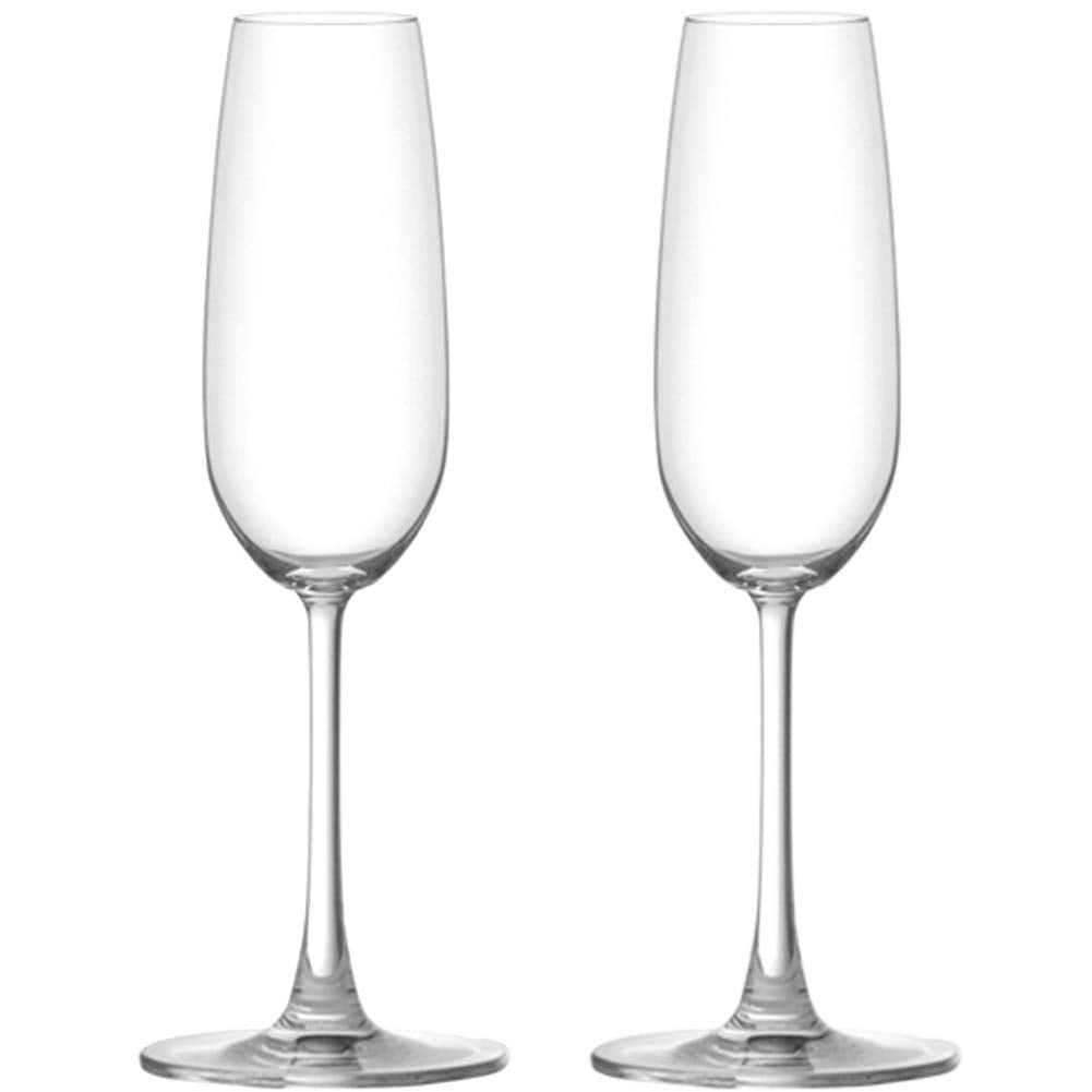 Ocean Glass Flute Sante Champagne Glass |  210 ml - Clear (2-Pieces)