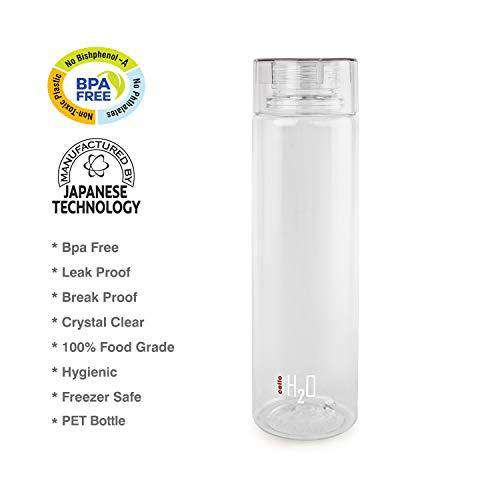 Cello H2O Round Plastic Water Bottle, 750ml, Clear