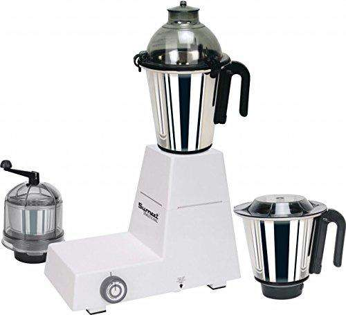 Sumeet Traditional Domestic Dxe 750-Watt Mixer Grinder with 3 Jars (White)