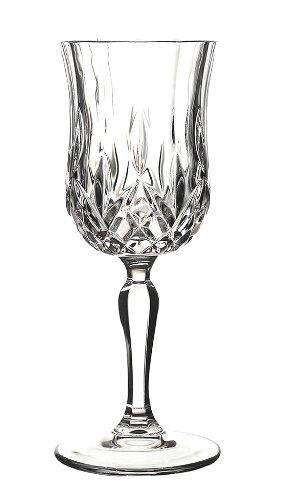 RCR White Wine Cristalleria Italiana Crystal Opera Goblet Glass,230 ml, Set of 6