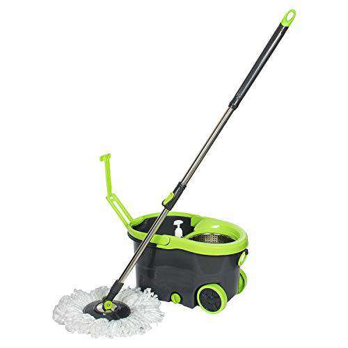 Wotra Easywring Wheels Bucket Magic Mop for 360 Degree Easy Mopping Floor Cleaning S330