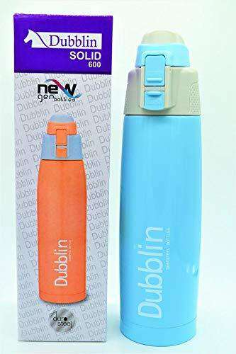 Saiyanshi Dubblin Hot and Cold Solid 600ml Water Bottle, SkyBlue