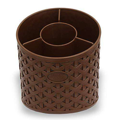 Plastic Cultery Stand Bunch Holder Brown