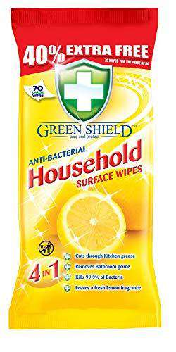 Greenshield Anti Bacterial Household Surface 70 Wipes