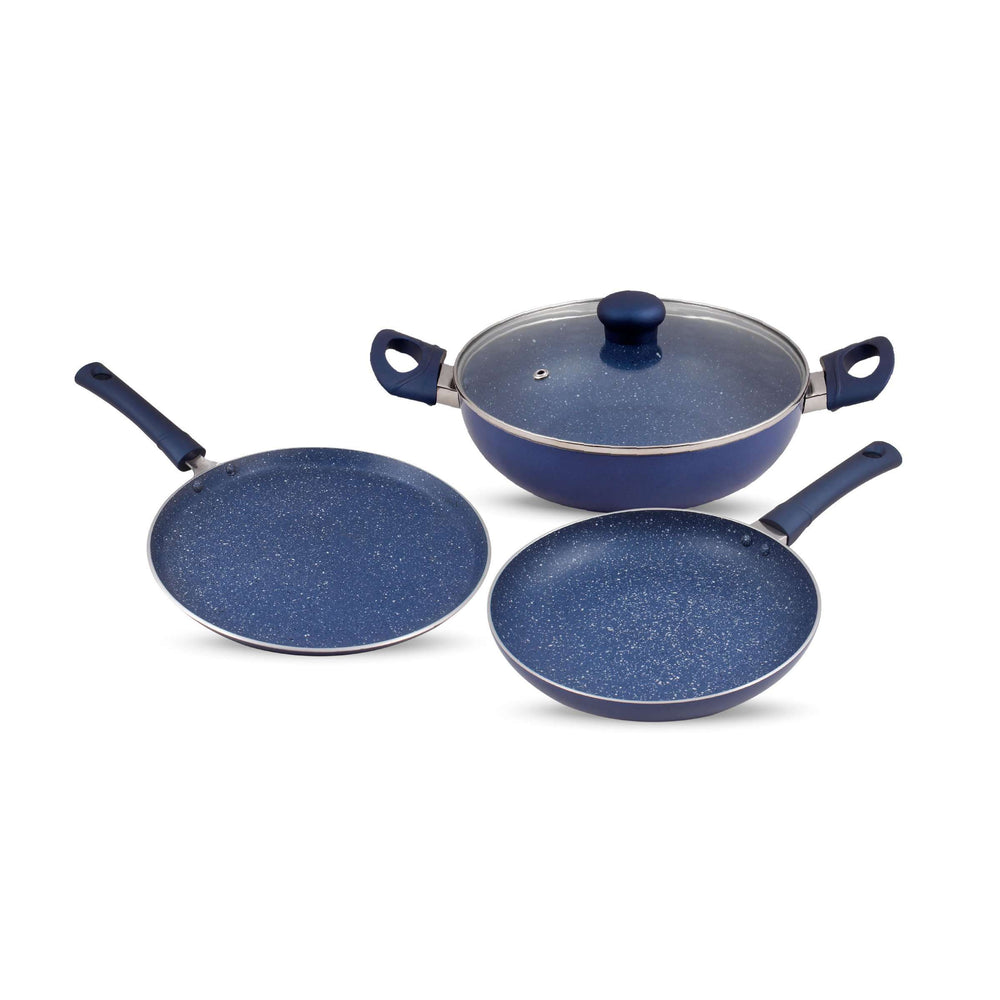 Krav Midnight Blue 4 Pcs Non Stick Cookware Set