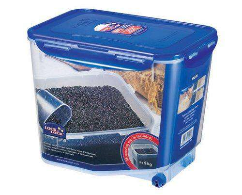 LocknLock Rice Container with Leak Proof Locking Lid, 7 litres, Transparent