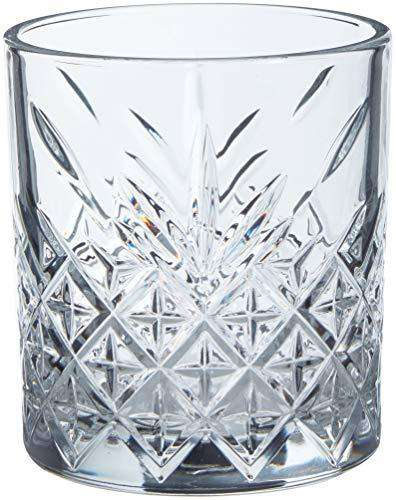 Pasabahce Whisky Glass Timeless Tumbler Set GB | 345 ml - Transparent (4 Piece Set)