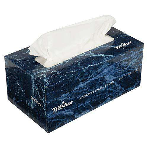2 Ply Facial Tissue Box - 100 pulls, Signature Range, Skin friendly, Fresh and Disposable Tissue Paper