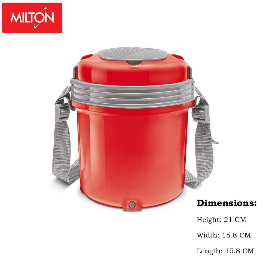 Milton Electron Stainless Steel Tiffin Box Set, 360ml/158mm|  Set of 3