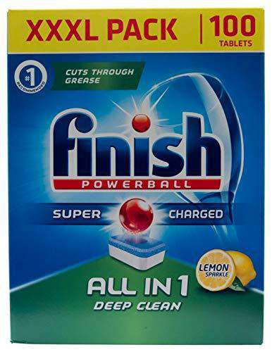 Finish Dishwasher Tablets All In 1 Powerball XXXL Lemon