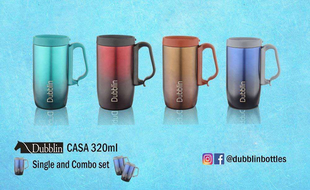 Casa 320 ml Thermos Flask - Hot and Cold (Maroon)