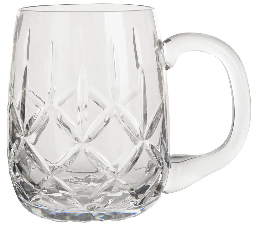 Solitaire Lead Crystal Beer Mug Large 1 Piece Set | 620 ml, Diamond