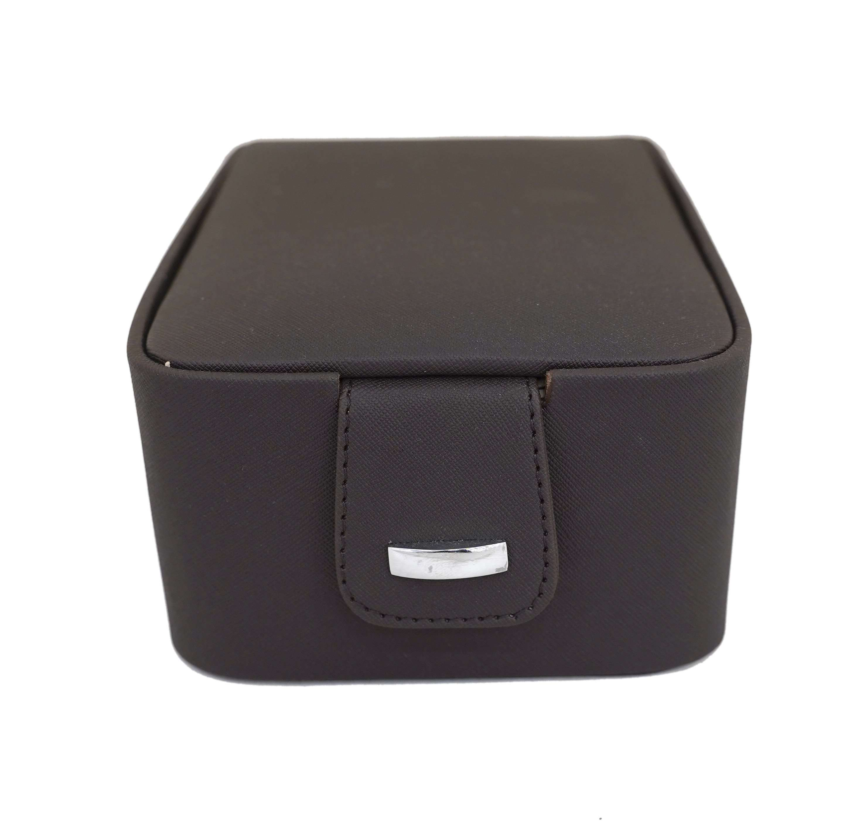 Draga Faux Leather Necklace & Trinkets Jewellery Box with 2 Tray