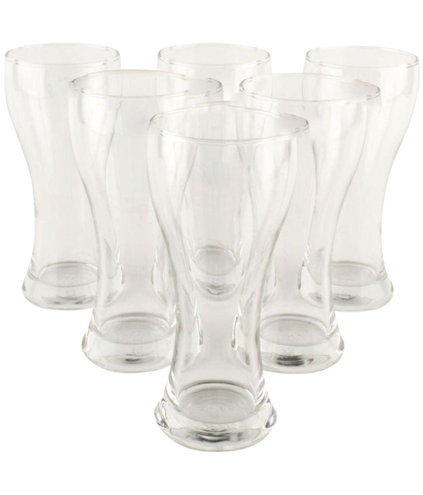 Ocean Clear Tall Beer Imperial Glass Set | 475 ml - Clear (Pack of 6)