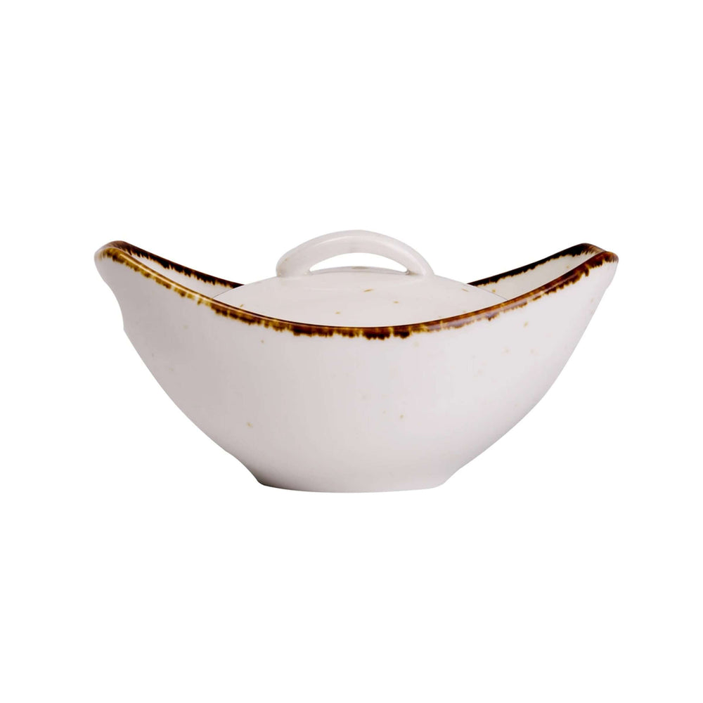 Rena Hostware Concave - Dining Table Serving Bowl - Dining Ware Set | White - (1 Piece)