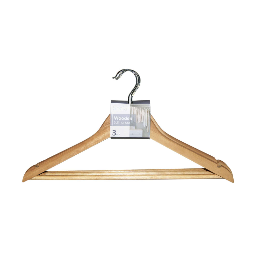 Sorta Wooden Suit Hanger, Natural Color