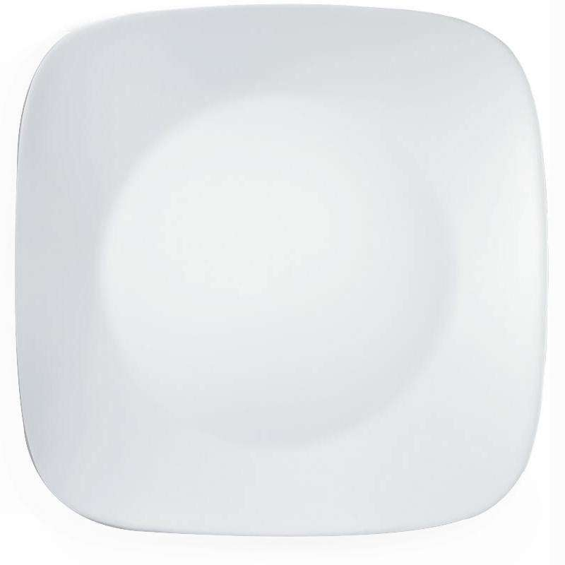 Corelle-Dinner Plate Square Winter Frost White