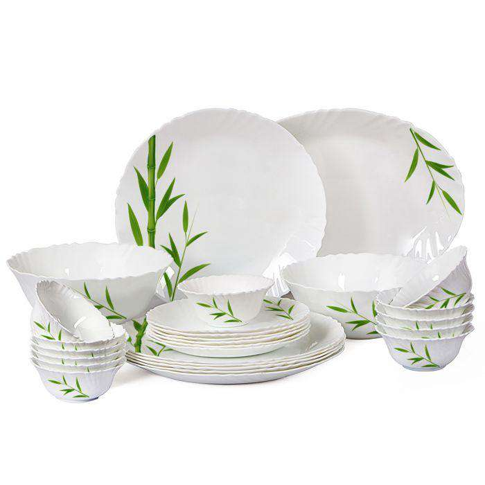 Cello Crockery Imperial Bamboo Grove Dinner Set, 27 Pcs