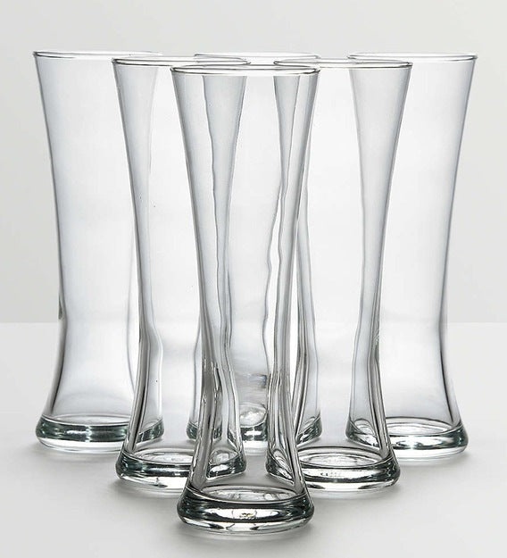 Ocean Royal Tall Beer Glass Set | 355ml - Clear (Pack of 6)
