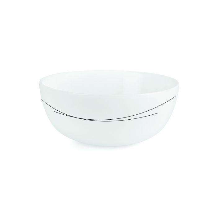 Cello Crockery Royale Black Curves Soup Bowl