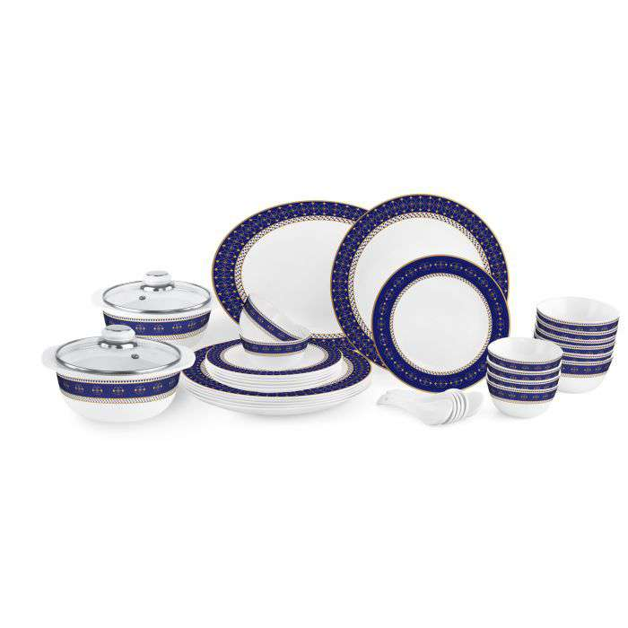 Cello Crockery Zarah Dinner Set | Blue