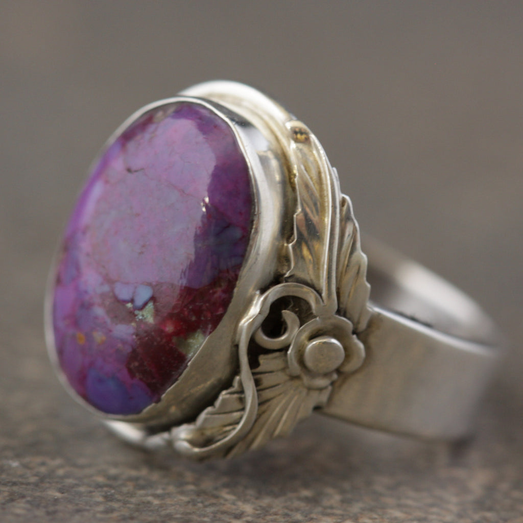 Mohave Purple Turquoise Leaf Ring