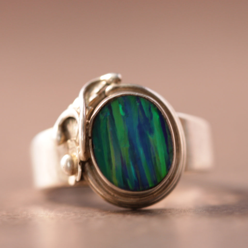 Hint of Tribal Opal Ring