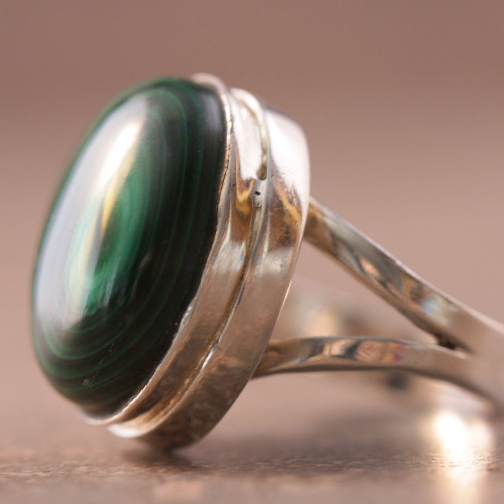 Malachite Lollipop Ring